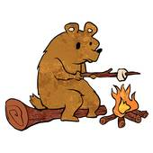 Bears toasting marshmellows clipart picture library Hibernating Bear Clip Art - Royalty Free - GoGraph picture library
