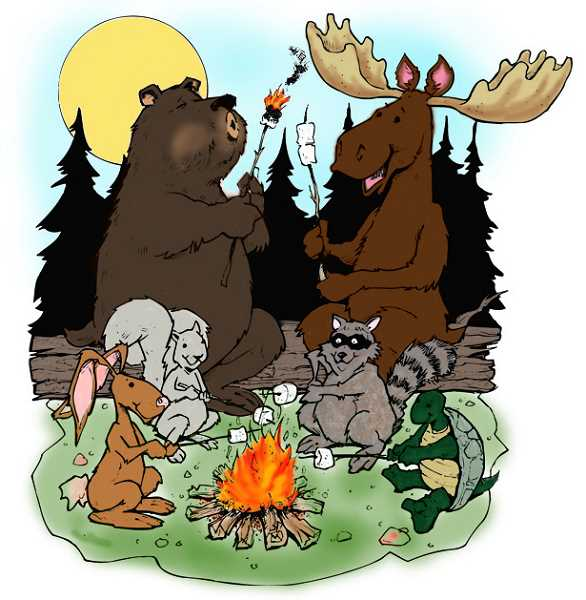 Bears toasting marshmellows clipart picture royalty free Images of Bear Roasting Marshmallows Clipart - www.industrious.info picture royalty free