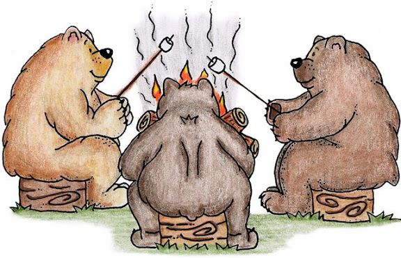 Bears toasting marshmellows clipart clip art black and white download Roasting marshmallows | ღ Clipart ღ | Camping crafts, Picasa, Bear ... clip art black and white download