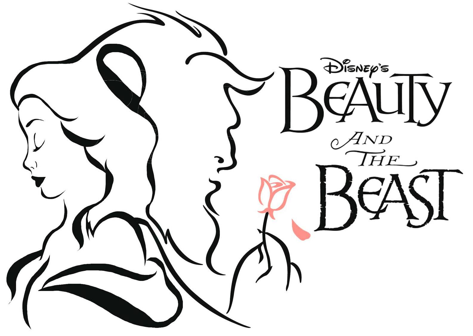 Beast clipart black and white black and white download Beauty and the beast black white clipart 4 clipart station jpg ... black and white download