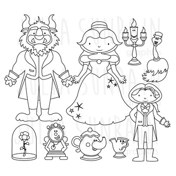 Beast clipart black and white clip art transparent download Beauty And The Beast Clipart Black And White (101+ images in ... clip art transparent download