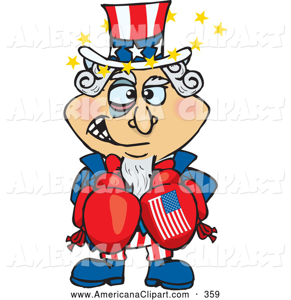 Beat up boxer clipart png royalty free Americana Vector Cartoon Clip Art of a Beat up American Uncle Sam ... png royalty free