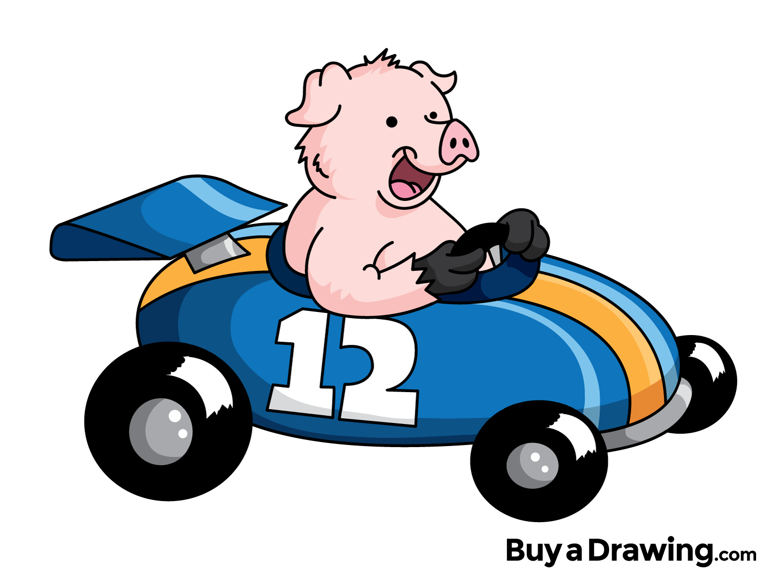 Car facing forward clipart library A cartoon pig in a race car that I drew for the heck of it. #pig ... library