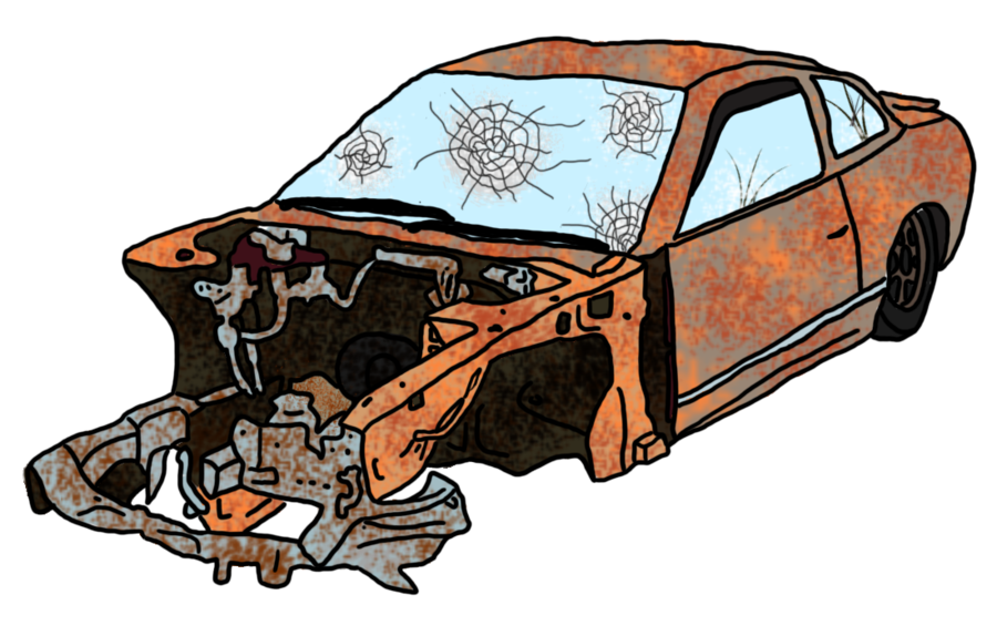 Pushing a car clipart png free library Car Wreck Drawing at GetDrawings.com | Free for personal use Car ... png free library