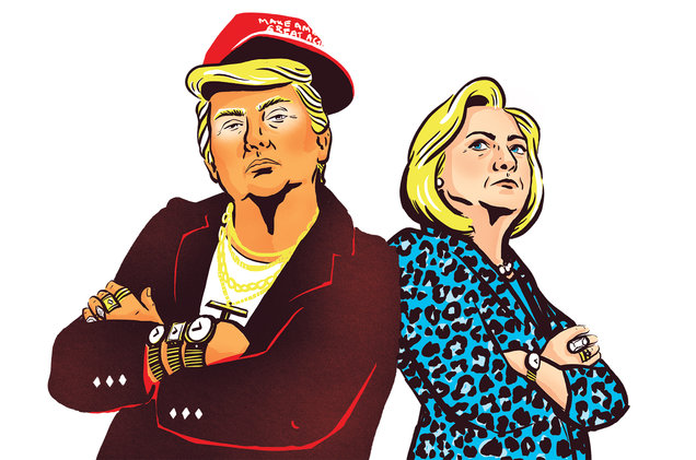 Beat up hillary clinton clipart png black and white download Hillary Clinton and Donald Trump in Rap Music: A Brief History ... png black and white download