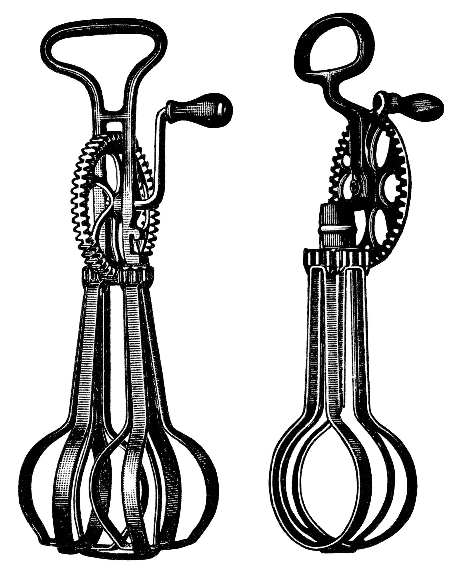 Beaters clipart image free library antique food mixer image, free black and white clip art, taplin egg ... image free library