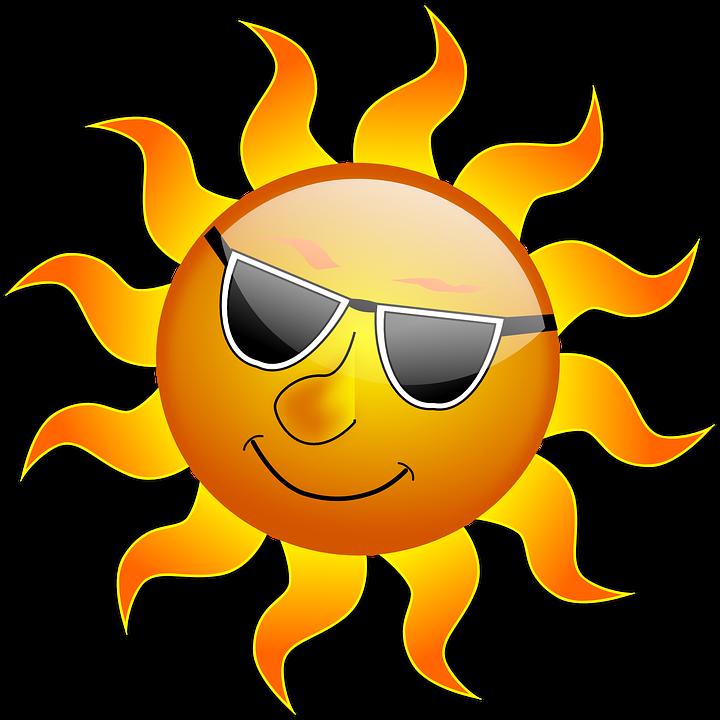 Children basking under sun clipart clip transparent stock Beat the heat: keep cool at home checklist clip transparent stock