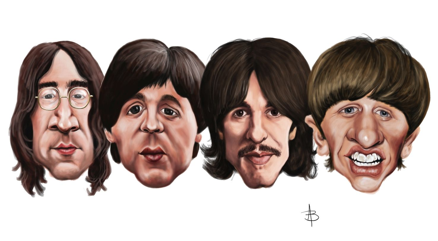 Beatles caricature clipart png royalty free library Beatles | My Caricatures in 2019 | Celebrity caricatures, The ... png royalty free library