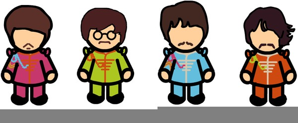 Beatles caricature clipart svg library download Beatles Clipart | salaharness.org svg library download