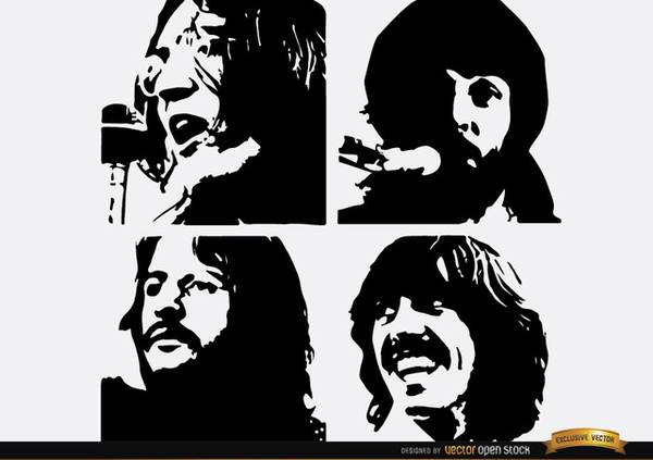 Beatles caricature clipart graphic free download Free Beatles Cliparts, Download Free Clip Art, Free Clip Art on ... graphic free download