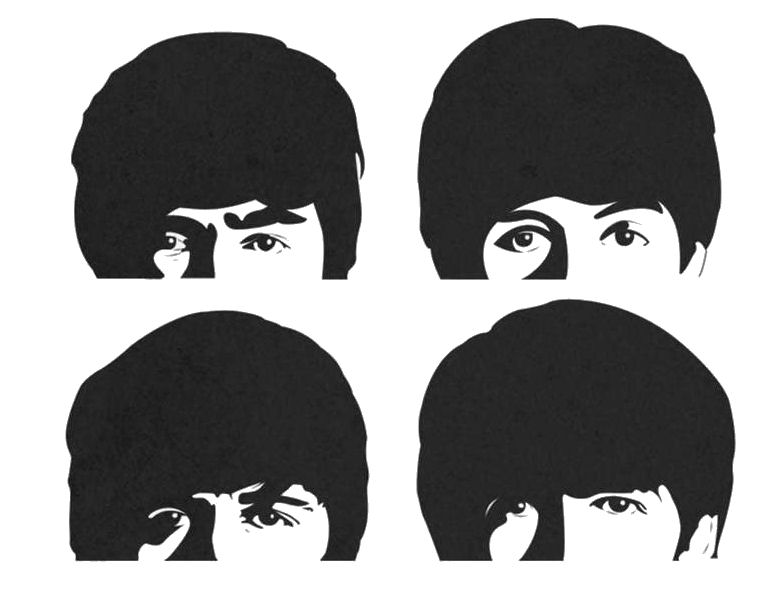 Beatles clipart picture free The Single-Note Beatles Montage | The Bob Angle picture free