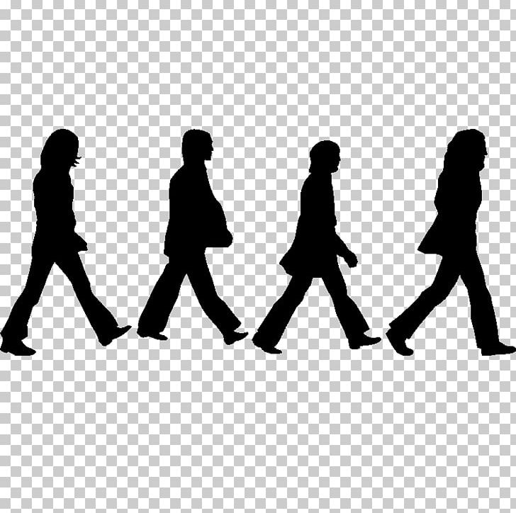Beatles clipart banner black and white library Abbey Road The Beatles Silhouette Drawing PNG, Clipart, Abbey Road ... banner black and white library