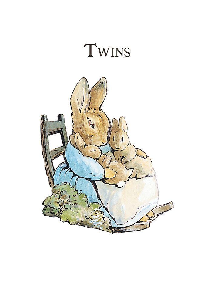 Beatrix potter clipart image freeuse Mrs Rabbit \'Twins\' Card image freeuse