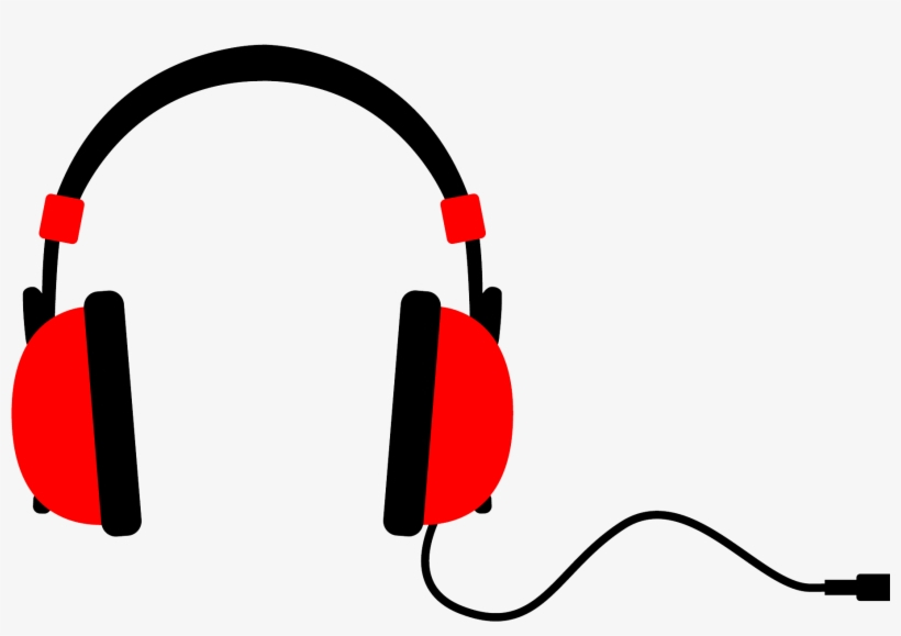 Beats clipart picture black and white Musical Clipart Beats - Headphones Clip Art Red Transparent PNG ... picture black and white