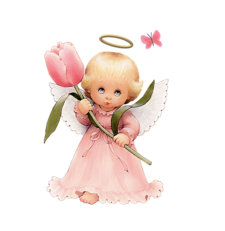 Beautiful angel clipart graphic royalty free Cute Angel Clip Art | Cute Angel with Tulip Free Clipart by ... graphic royalty free