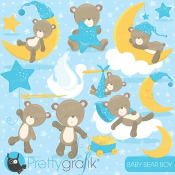 Beautiful baby boy clipart graphic royalty free Baby boy bear clipart commercial use, vector, digital - CL772 graphic royalty free