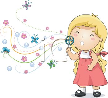 Beautiful baby girl clipart graphic stock Cute Little Girl Blowing Bubbles - Royalty Free Clip Art Image graphic stock