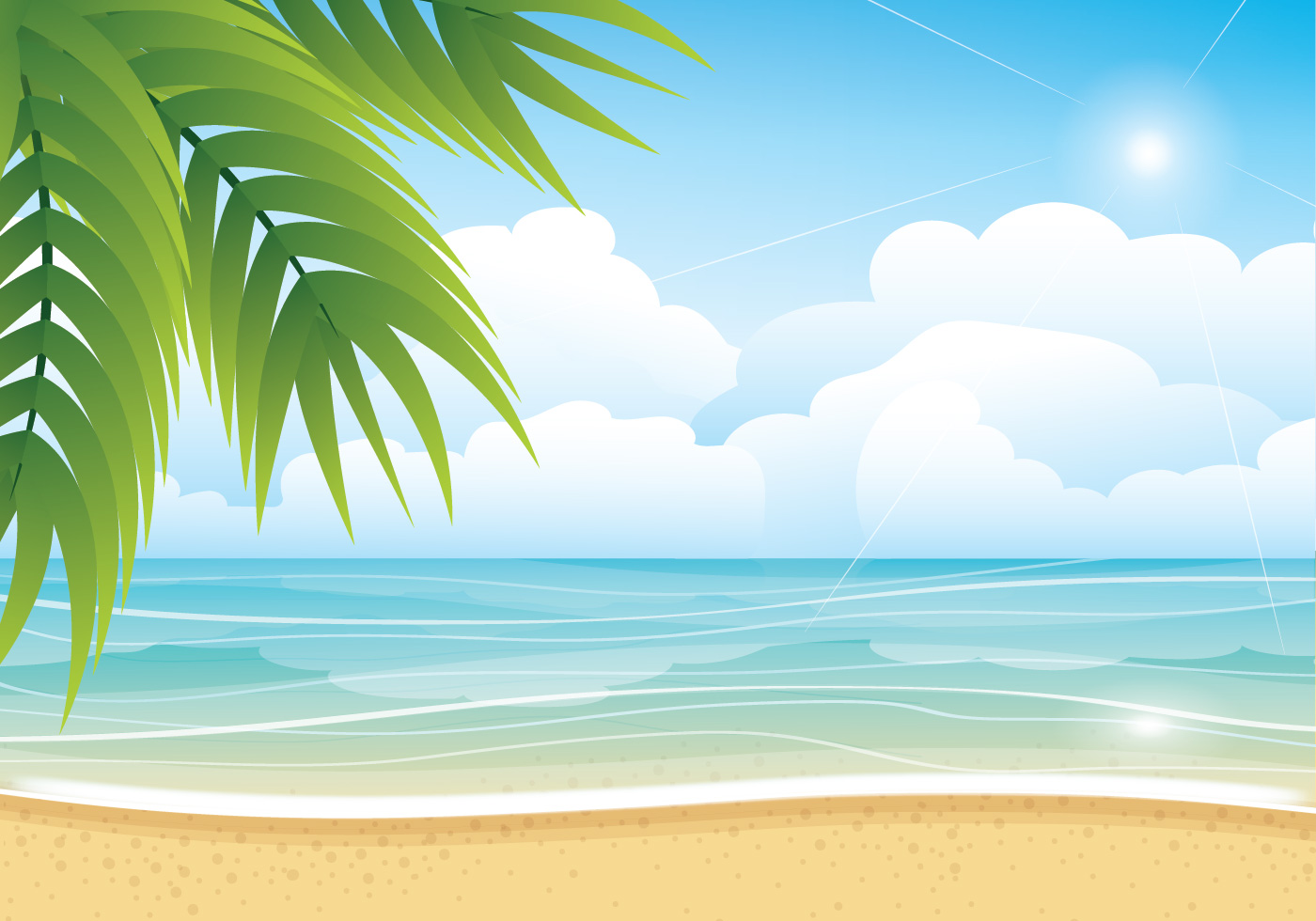 Beautiful beach backgrounds clipart design graphic royalty free library Summer Free Vector Art - (58,863 Free Downloads) graphic royalty free library