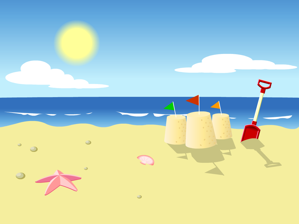 Beautiful beach backgrounds clipart design vector transparent Cartoon Beaches | Beach signs | Beach cartoon, Beach wallpaper, Kids ... vector transparent