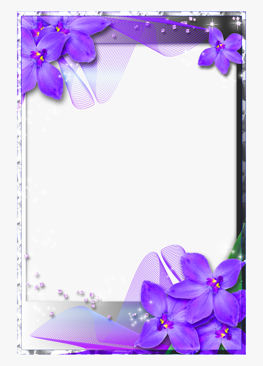 Beautiful borders and frames clipart clip library library Beautiful Transparent Frame With Purple Orchids - Beautiful Photo ... clip library library