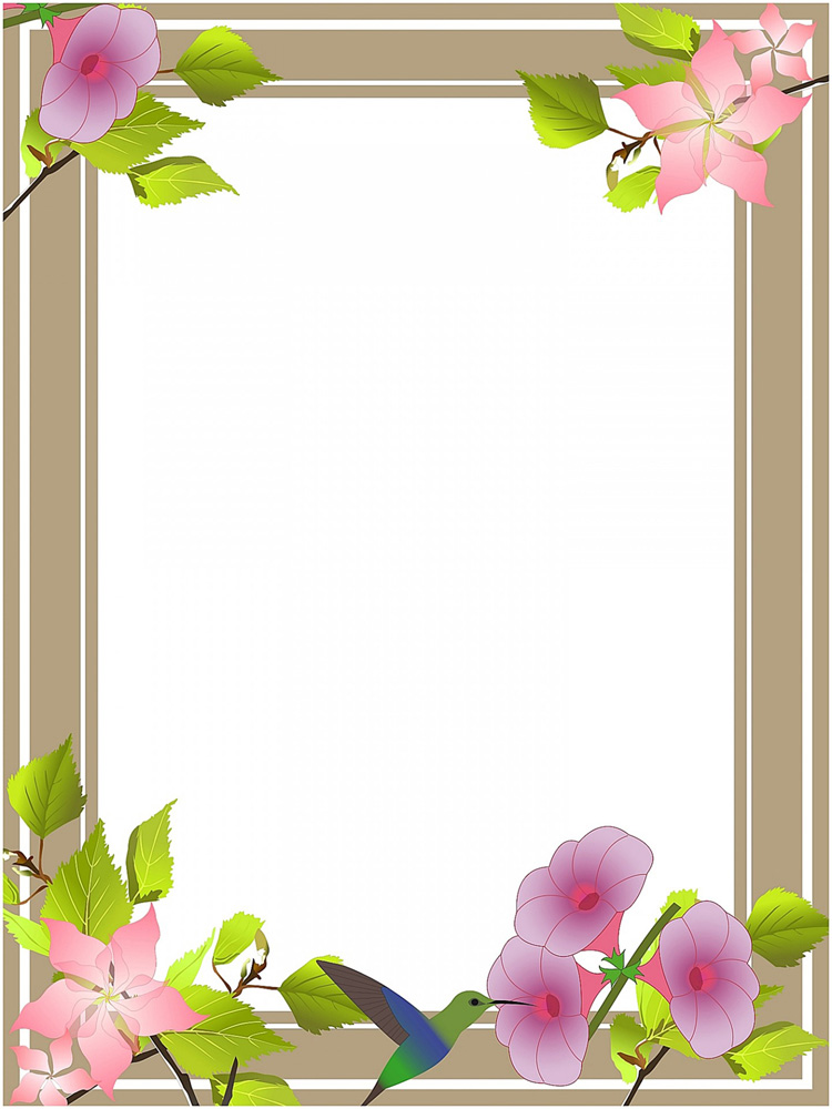Beautiful borders and frames clipart png black and white download Flower borders and frames png black and white download