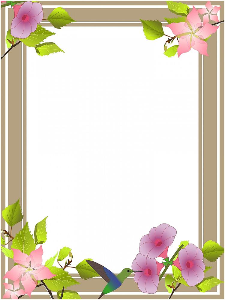 Beautiful flower frames clipart