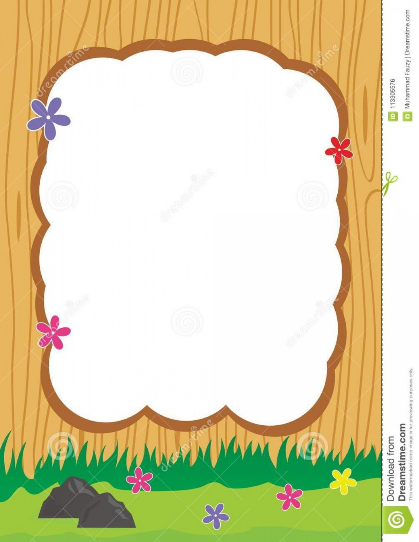 Beautiful borders and frames clipart clip art transparent Cute Frame Border Decorated Beautiful Flower Wood Frame Vector Wood ... clip art transparent