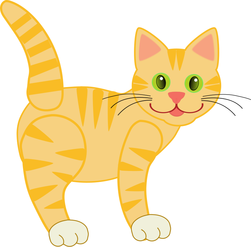 Cat walking clipart clip art The clip art images in this set may be used for both Personal and ... clip art