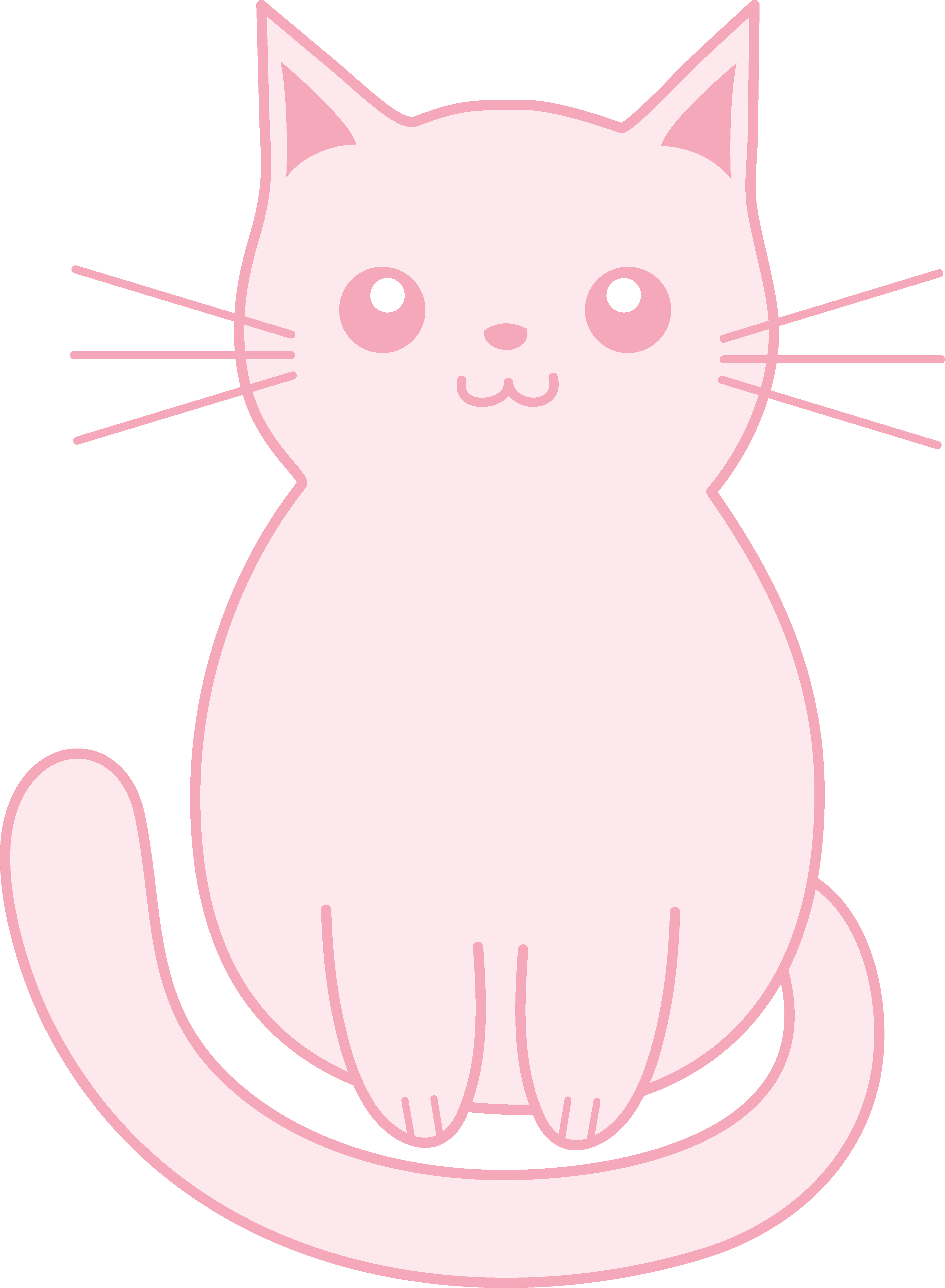 Kawaii cat face clipart jpg free library Kitten clipart cat sat ~ Frames ~ Illustrations ~ HD images ~ Photo ... jpg free library