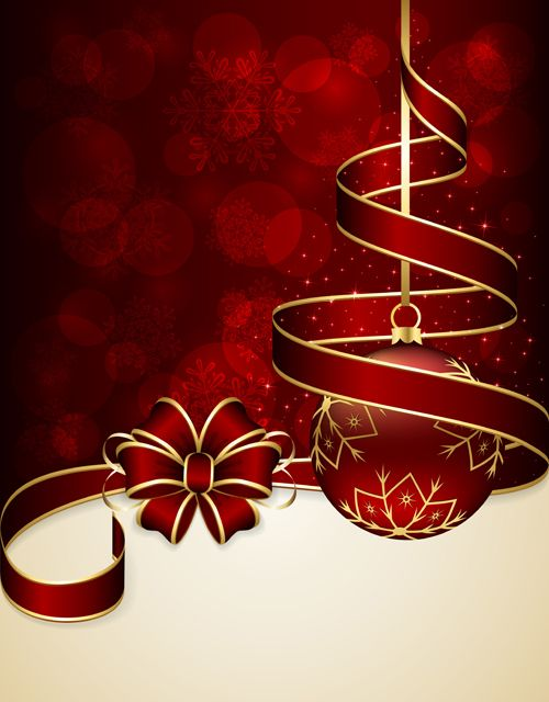 Beautiful christmas cards clipart with red background clip art royalty free stock Beautiful xmas baubles shiny background vector 04 - Vector ... clip art royalty free stock