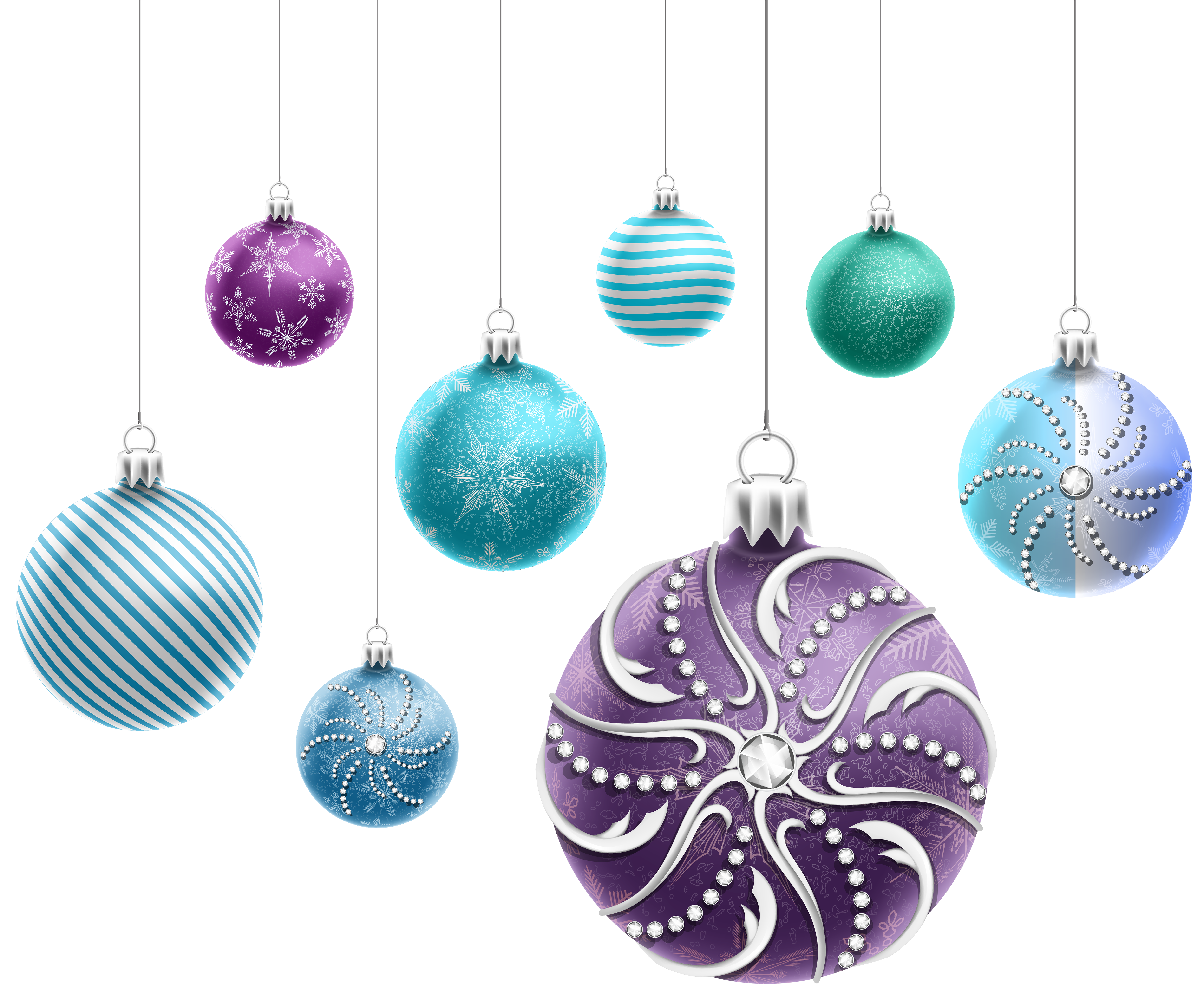 Christmas bulbs clipart free library Beautiful Christmas Ornaments PNG Clipart Image | Gallery ... free library