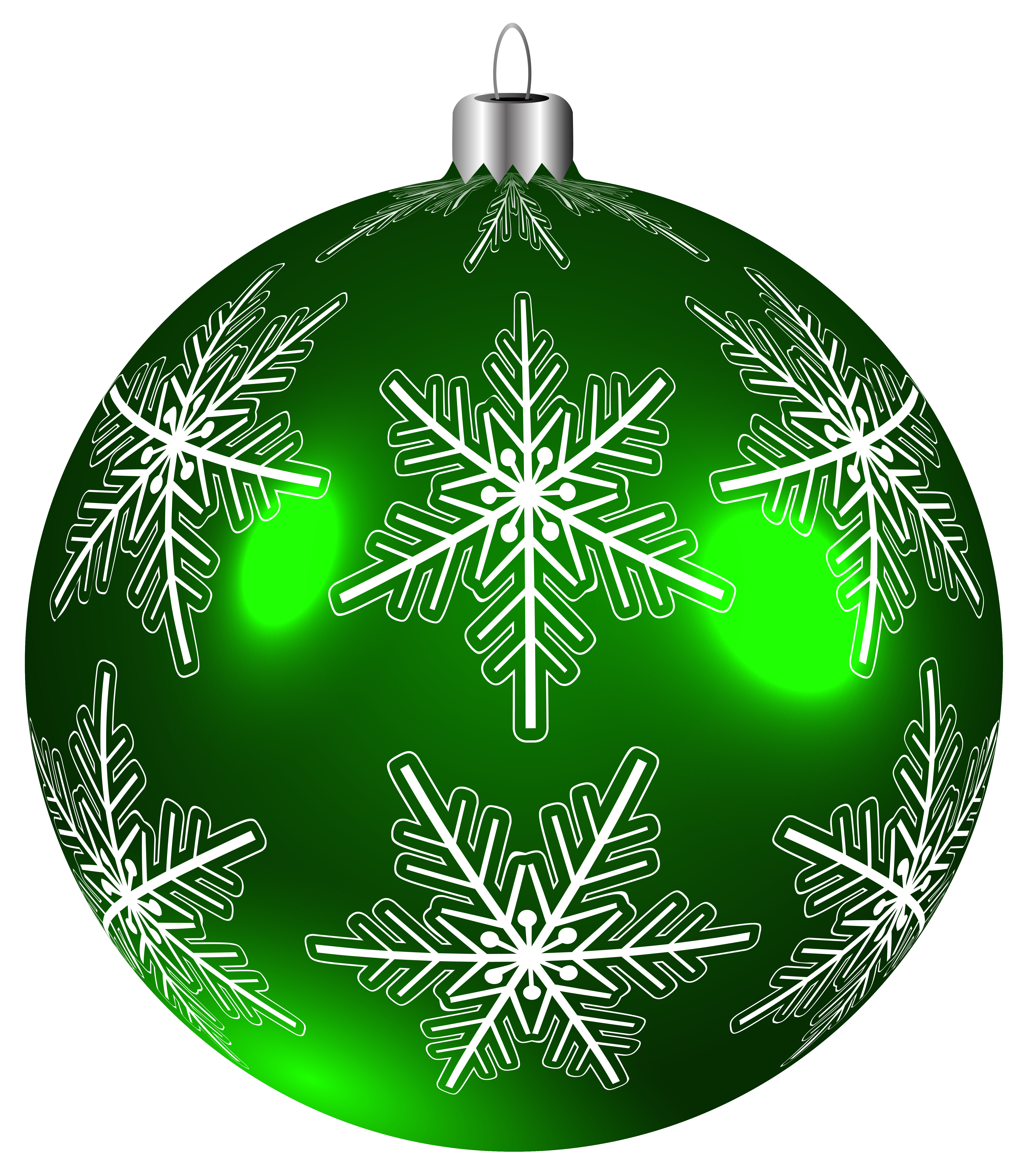 Green snowflake png clipart vector transparent Beautiful Green Christmas Ball PNG Clip-Art Image | Gallery ... vector transparent