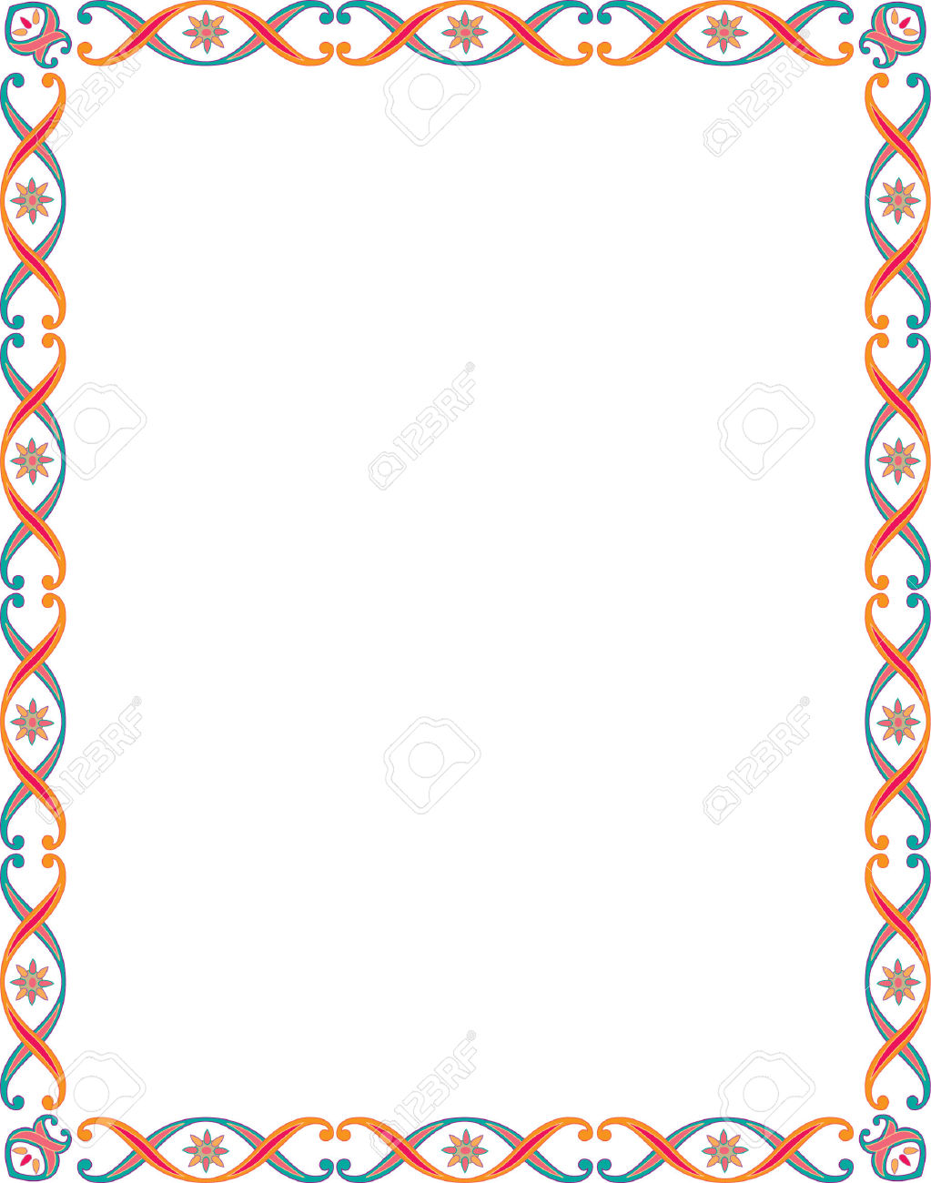 Beautiful clip art borders vector stock beautiful basic border frame | Clip Art & Printables: Frames ... vector stock