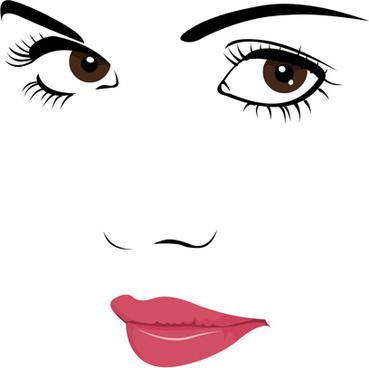 Face vector clipart vector black and white download Girl face clipart free vector download (8,183 Free vector) for ... vector black and white download