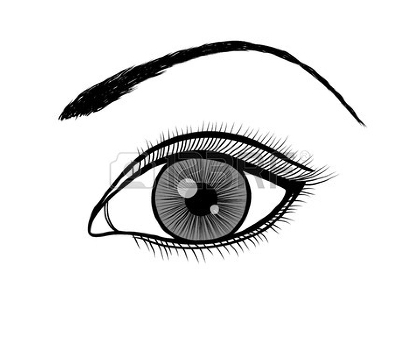 Beautiful eye clipart black and white jpg black and white stock 20+ Eye Clipart Black And White | ClipartLook jpg black and white stock