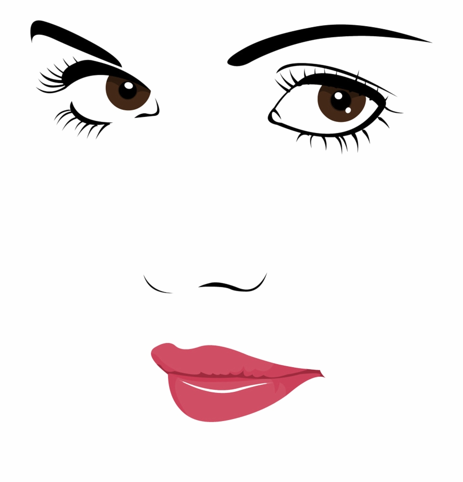 Beautiful face clipart library Face Portrait Woman Clip Art - Quotes On Beautiful Eyes In Hindi ... library