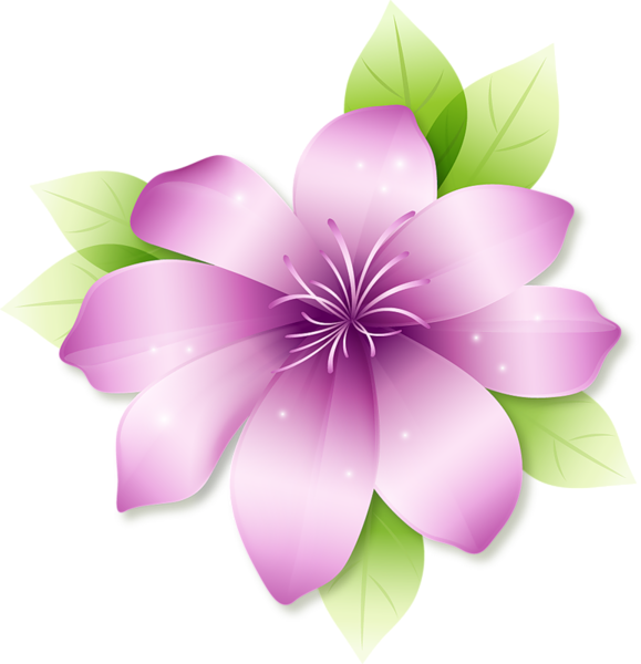 Magenta flower clipart graphic black and white Large Pink Flower Clipart | Flowers | Pinterest | Flower clipart ... graphic black and white