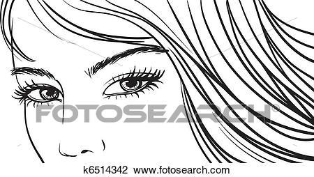 Beautiful girl clipart black and white vector freeuse Beautiful girl clipart black and white 6 » Clipart Portal vector freeuse
