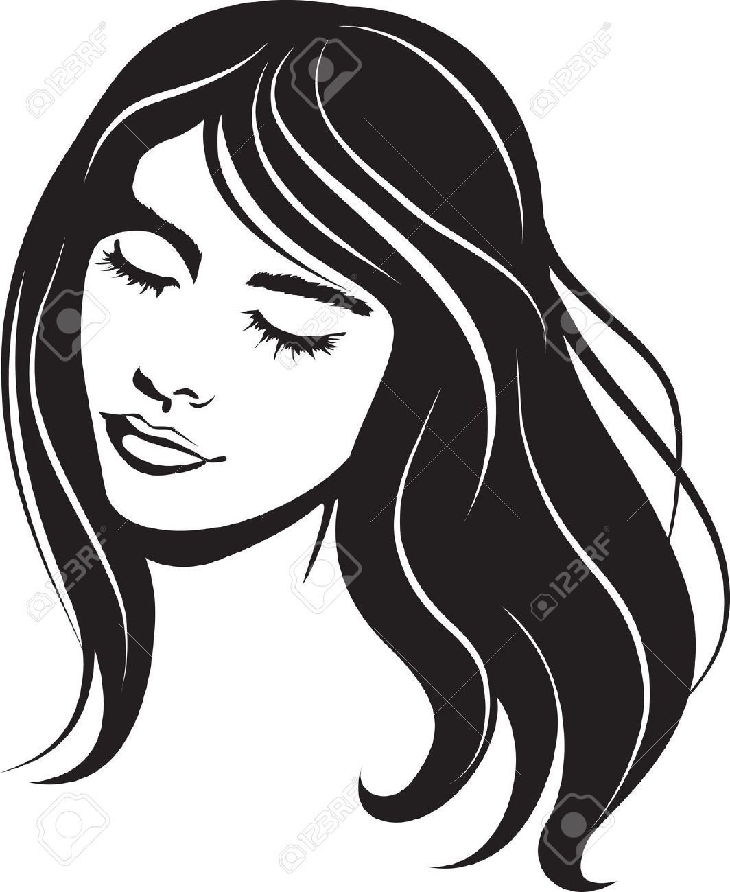 Beautiful girl face clipart clipart transparent Beautiful girl face clipart 9 » Clipart Portal clipart transparent
