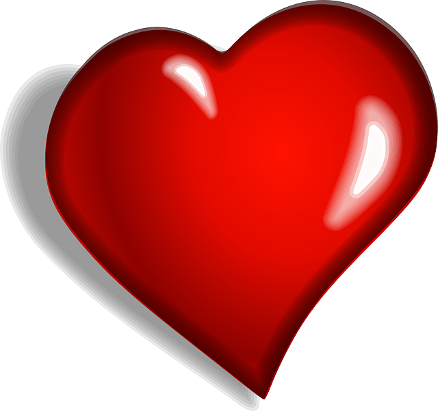 Heart with beat clipart