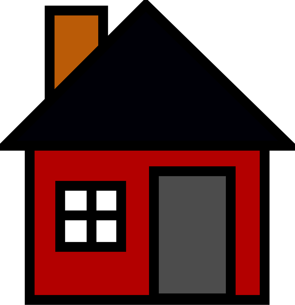Beautiful house clipart vector free House | Free Stock Photo | Illustration of a red house | # 16111 vector free