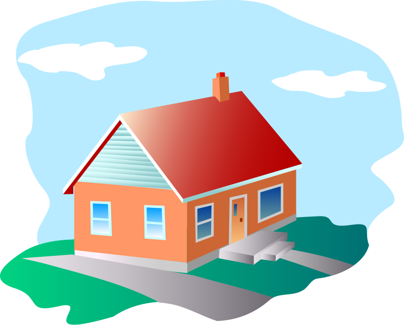 Modern house clipart vector free stock House | Free Stock Photo | Illustration of a house | # 14444 vector free stock