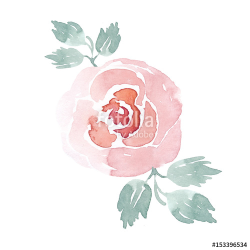 Beautiful watercolor clipart banner royalty free download Watercolor handpainted rose clipart. Watercolor flowers. Beautiful ... banner royalty free download