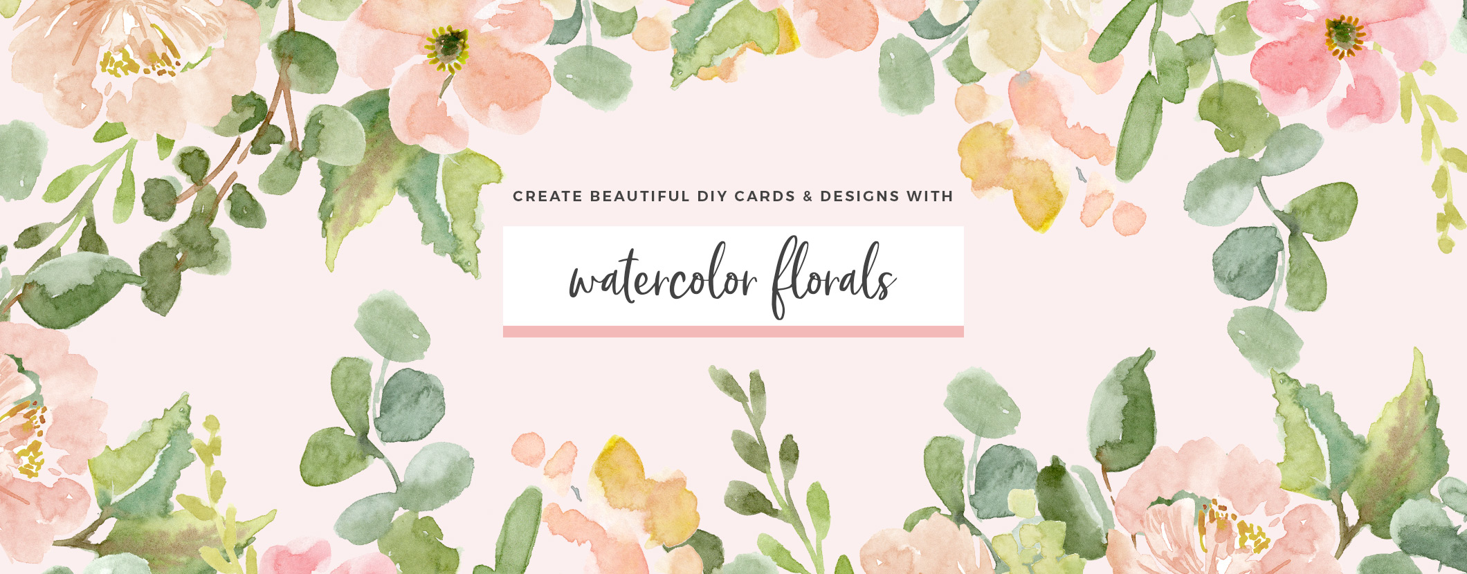 Beautiful watercolor clipart graphic free library Watercolor Flowers Clipart & Business Branding Resources graphic free library