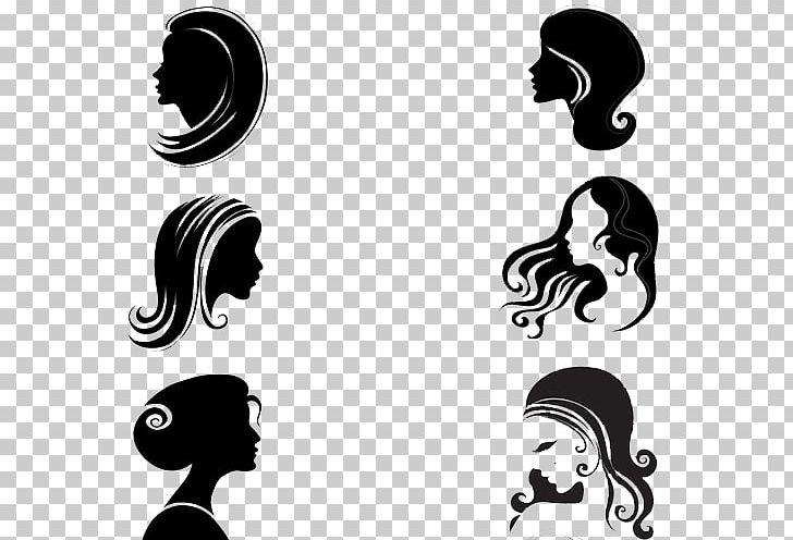 Beautiful woman clipart png black and white banner library Silhouette Female Face Woman PNG, Clipart, Beautiful, Beautiful Side ... banner library