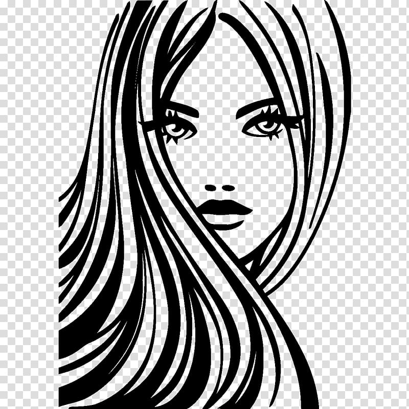 Beautiful woman clipart png black and white clip art download Beauty Parlour Hair Woman, beauty girl transparent background PNG ... clip art download