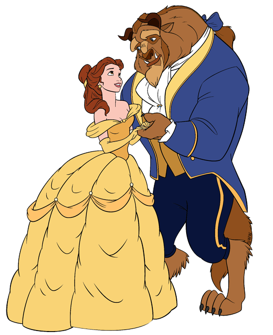 Beauty and the beast clipart images banner black and white stock Belle and the Beast Clip Art | Disney Clip Art Galore banner black and white stock