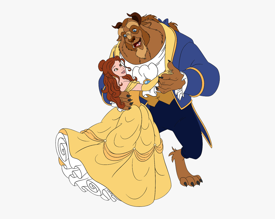 Beauty and beast clipart clipart royalty free library Beast Belle, Beast Dancing - Beauty And The Beast Dancing Cartoon ... clipart royalty free library