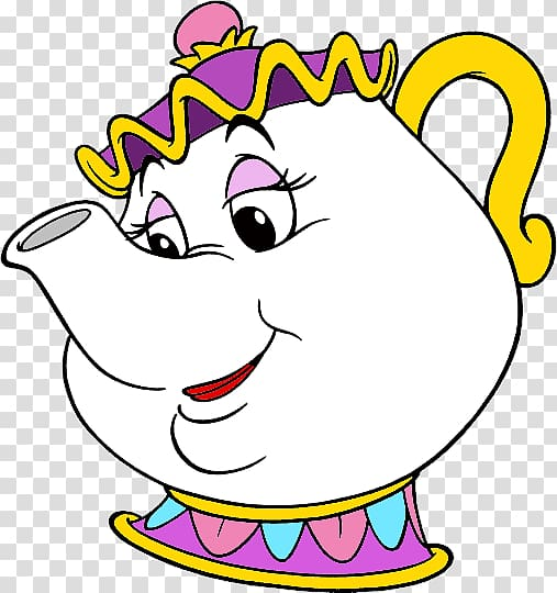 Beauty and beast heads clipart picture free White teapot cartoon, Mrs. Potts Beauty and the Beast Belle ... picture free