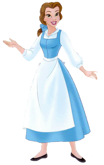 Beauty and the beast belle clipart blur dress